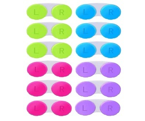 12 Pack Colorful Contact Lens Case Box