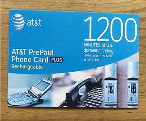 1200 Minute Prepaid Phone Card