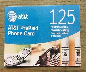 125 Minutes Prepaid Phone Card