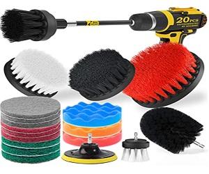 20Piece Drill Brush Attachments Set