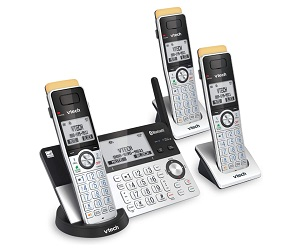 3 Handset DECT 6.0 Cordless Phone For Home