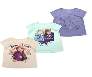 3 Pack Frozen T Shirts and Toddlers for Girls