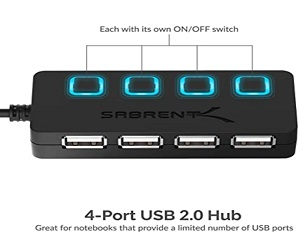 4-Port USB 2.0 Hub Power Switches