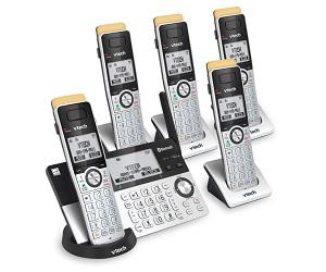 5 Handset DECT 6.0 Cordless Phone