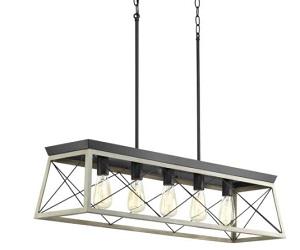 5 Light Linear Chandelier in Coastal style