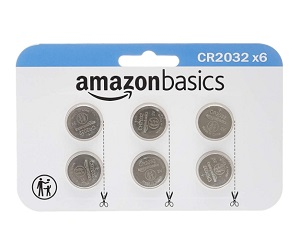 6 Pack 3 Volt Lithium Coin Cell Battery