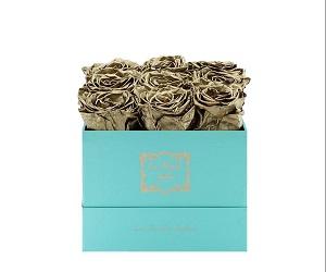 9 Gold Preserved Roses