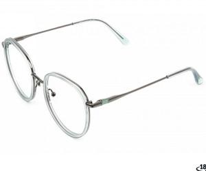 ARTHILL 3 - Gunmetal & Translucent Powder Blue Thick Frame glasses