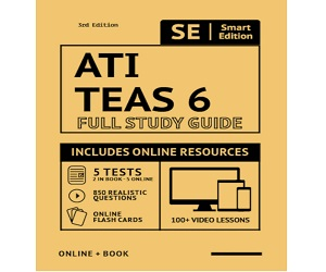 ATI TEAS 6 Full Study Guide Book