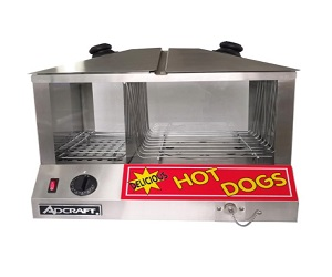 Adcraft Commercial Hot Dog Steamer and Bun Warmer