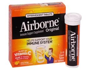 Airborne Immune Support Supplement Zesty Orange
