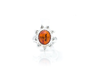 Amber Sun Ring
