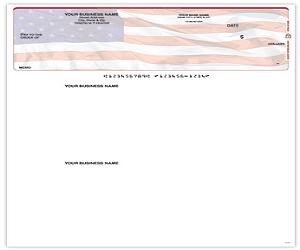 American Flag Top QuickBooks and Quicken Checks