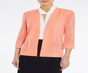 Animal Pattern Burnout Knit Jacket