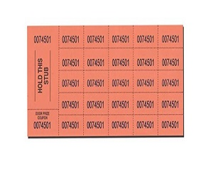 Auction Tickets 500 Sheets
