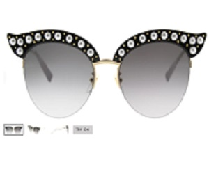 Black Sunglasses With Grey Gradient Lens
