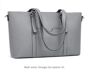 Women Leather Laptop Office Shoulder Handbag
