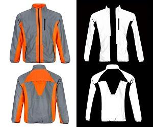 BTR High Visibility Reflective Cycling & Running Jacket. High Vis
