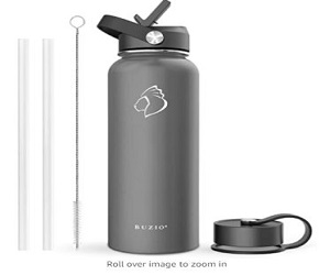Insulated Water Bottle with Straw Lid and Flex Cap + 10% Off