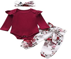 Newborn Baby Girl Clothes Ruffle
