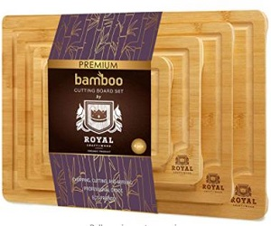 Natural Bamboo Cutting Board with Juice Groove