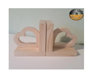 Beautiful Hand Crafted Heart Shaped Bookends