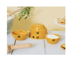 Beautifully Unique Bee Hive Design Measuring Bowls