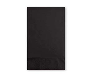Black Velvet Paper Dinner Napkins