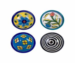 Blue Pottery Pinch Bowls 4