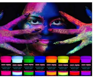 UV Body Paint Set | Black Light Glow Makeup Kit