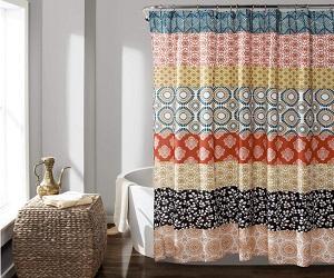 Bohemian Striped Shower Curtain