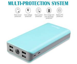 Bonai 30000mAh 4-Port External Battery Pack Power Bank