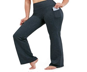 Women's Bootcut Yoga Pants Long Bootleg High-Waisted Flare Pants with Pockets