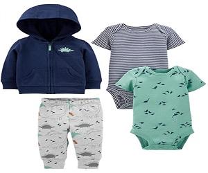 Boys 4 Piece Jacket Pant and Bodysuit Set
