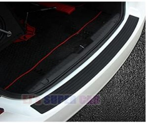 CAR Rear Bumper Protector Guard Universal Black Rubber Scratch