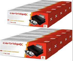 10 x Cartridgex Toner Cartridge To Replace Brother TN2320 for DCP-L2500D DCP-L2520DW
