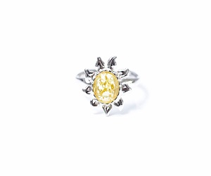 Citrus Yellow Amber Sun Ring