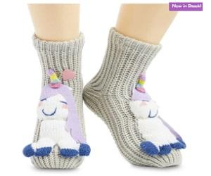 Knitted Slipper Socks 3D Unicorn For Girls