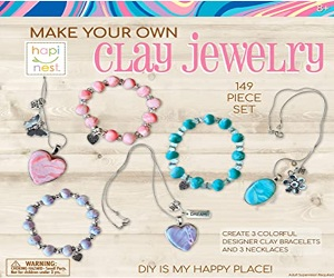 Clay Jewelry Arts And Crafts Kit For Girls