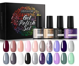Gel Nail Polish Set with Glossy & Matte Top Coat  + Extra 5% Off
