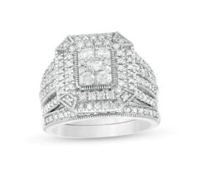 Composite Emerald Diamond Rectangle Frame