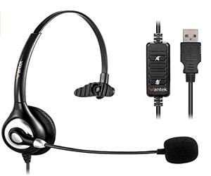 Corded USB Headsets Mono