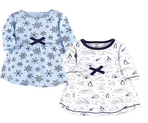 Cotton Short And Long Sleeve Dresses For Baby
