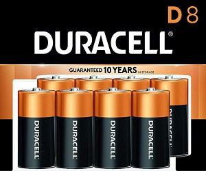 Count 8 CopperTop Alkaline Batteries