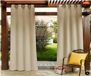 Waterproof Privacy Guarantee Grommet Top Outdoor Blackout Curtains