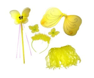 Cute 4-Piece Yellow Butterfly Fairy Dress Up Set