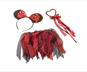 Cute Red Spotted Mouse Dress-Up Set