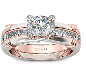 Cz Sterling Silver Interchangeable Ring