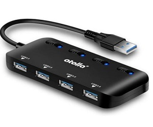 USB Ultra Slim Data Hub with Individual Power