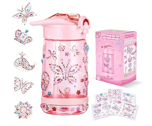 Decorate Water Bottle with Tons Of Gem Stickers